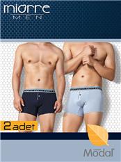 Miorre Tomy 2'Li Paket Modal Erkek Boxer