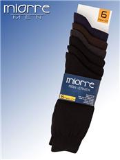 Miorre Pamuklu Dikişsiz 6 Lı Erkek Çorabı