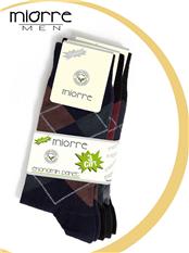Miorre 3 Lü Ekoseli Pamuk Erkek Çorabı