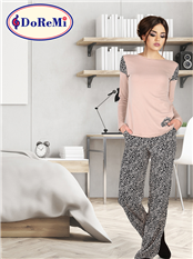 DoReMi Classical Desing Bayan Pijama Takımı
