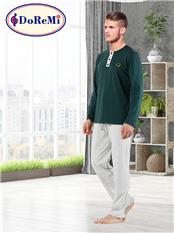 DoReMi Green Grey Erkek Pijama Takımı